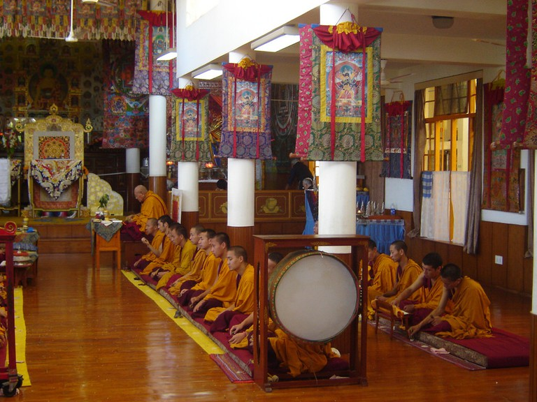 Tsuglagkhang central chapel of the Tibetan Buddhists