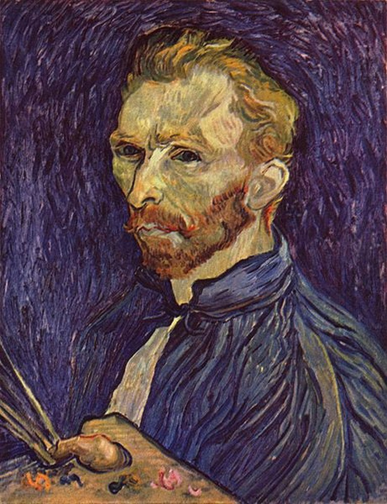A self portrait by Vincent Van Gogh who drove himself mad on absinthe