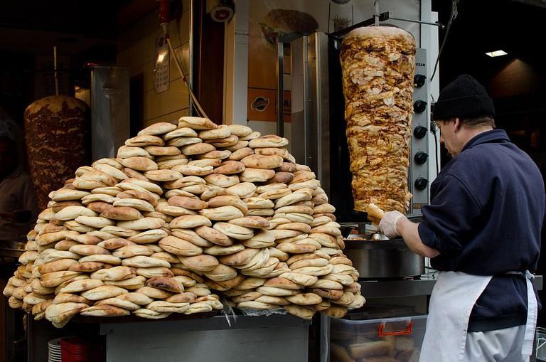 Shwarma seller in Istanbul