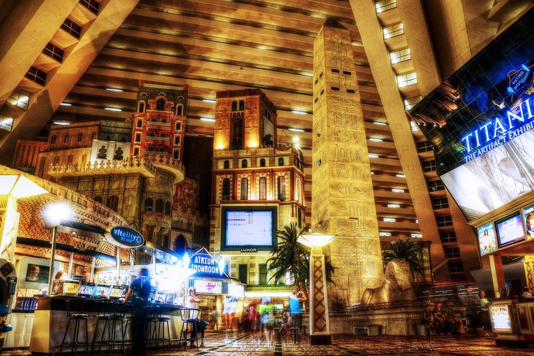 Inside the Luxor Hotel