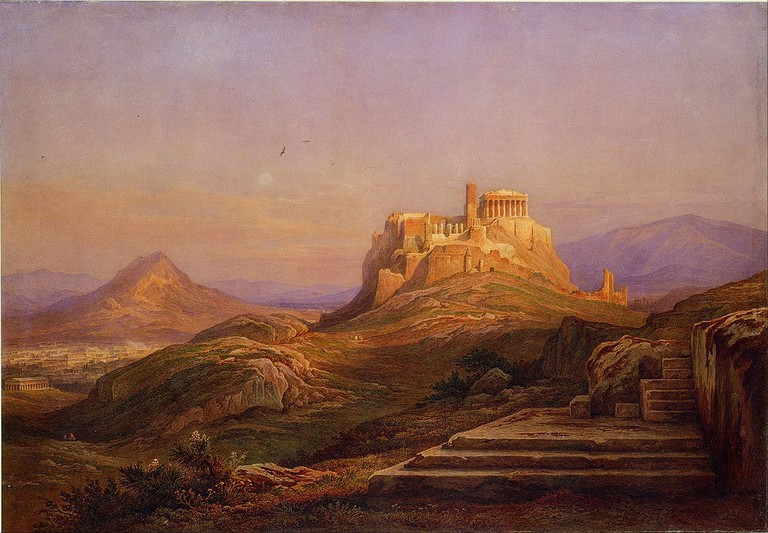 View of the Acropolis from the Pnyx by Rudolph Muller