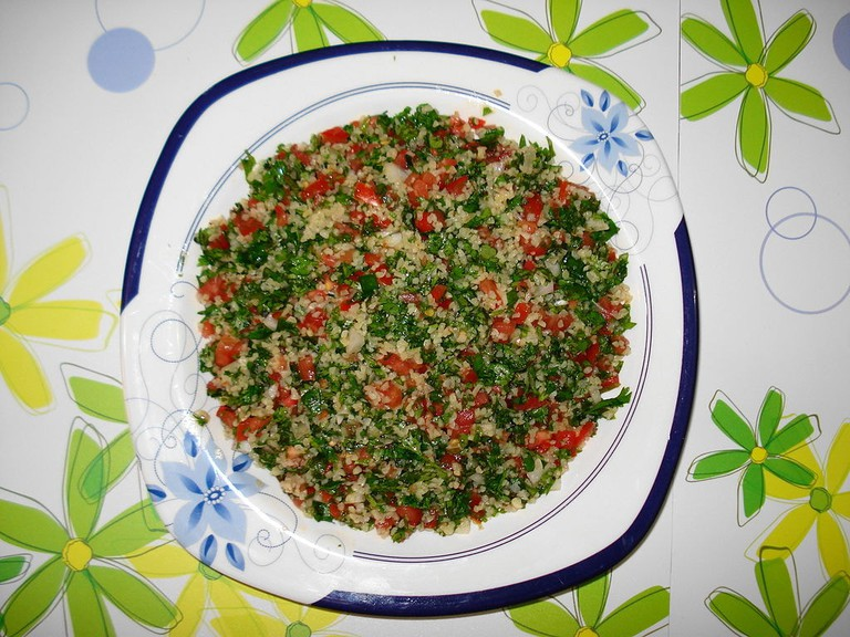 Tabouleh is colorful and nutritious