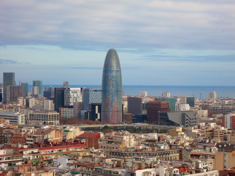 Barcelona's business district