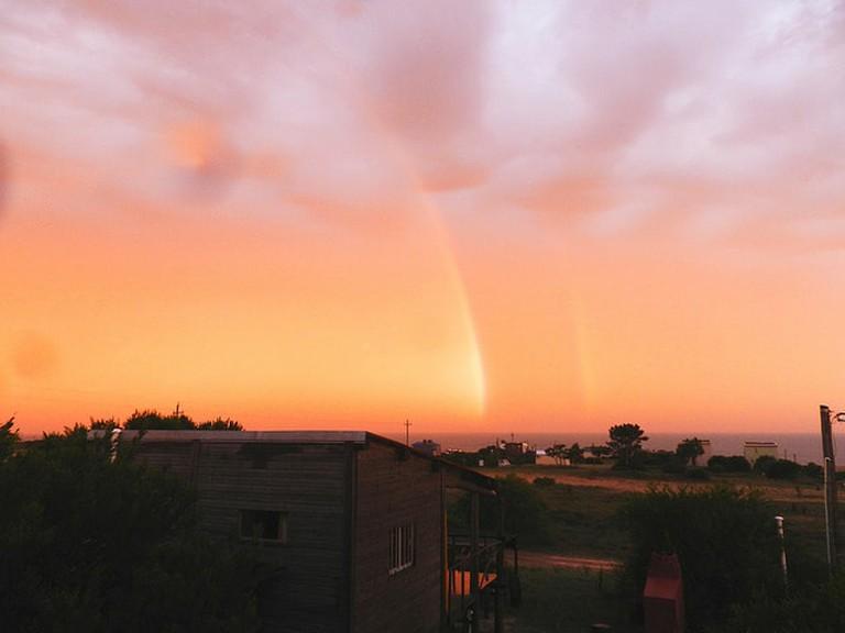 rainbow at Punta del Diablo, Rocha, Uruguay