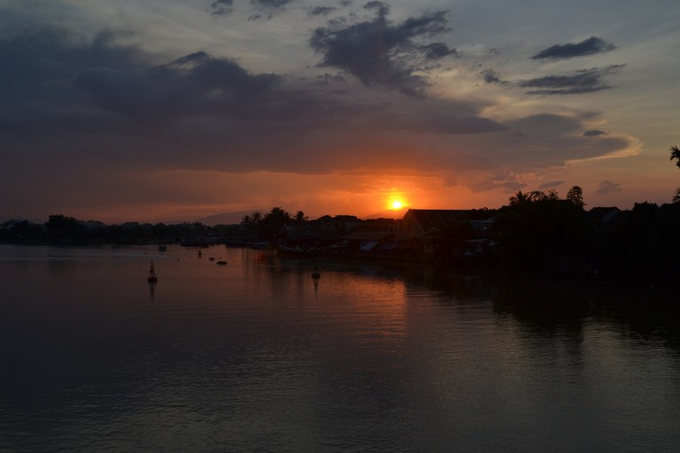 Sunset over the beautiful Hoi An