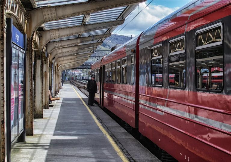 Train station in Bergen