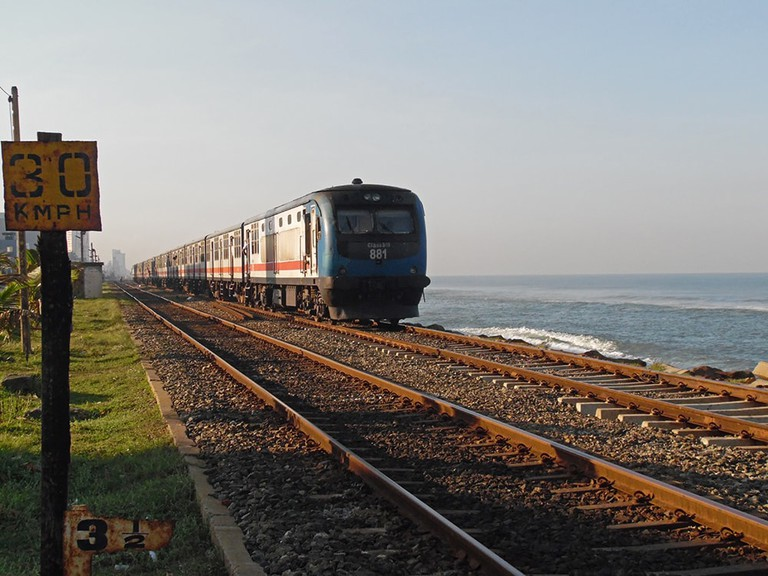 Train leaving Colombo
