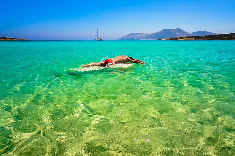 Crystal clear waters in Koufonisia, Greece