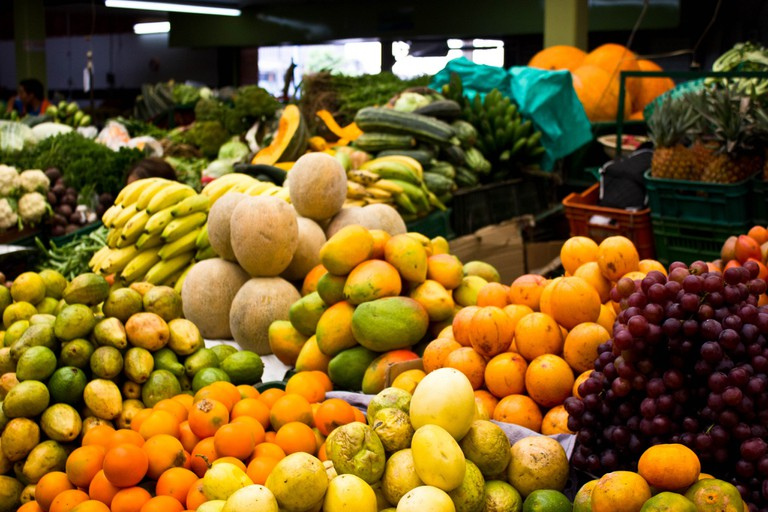 There's a whole world of fruit to discover at Paloquemao Market