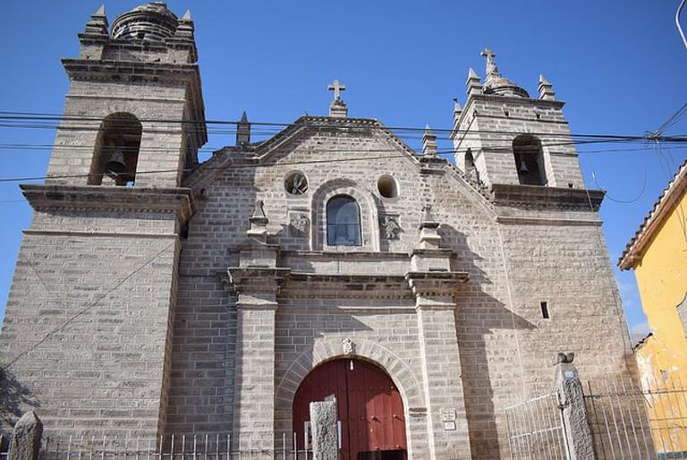 A church in Ayacucho, Peru