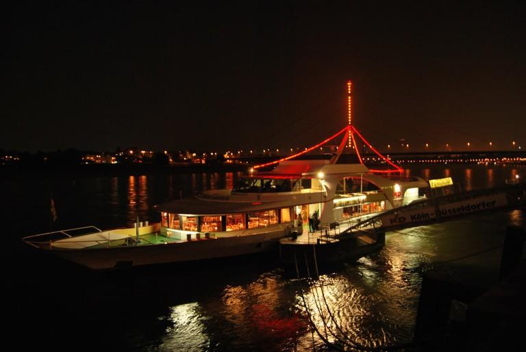 Rhine at night
