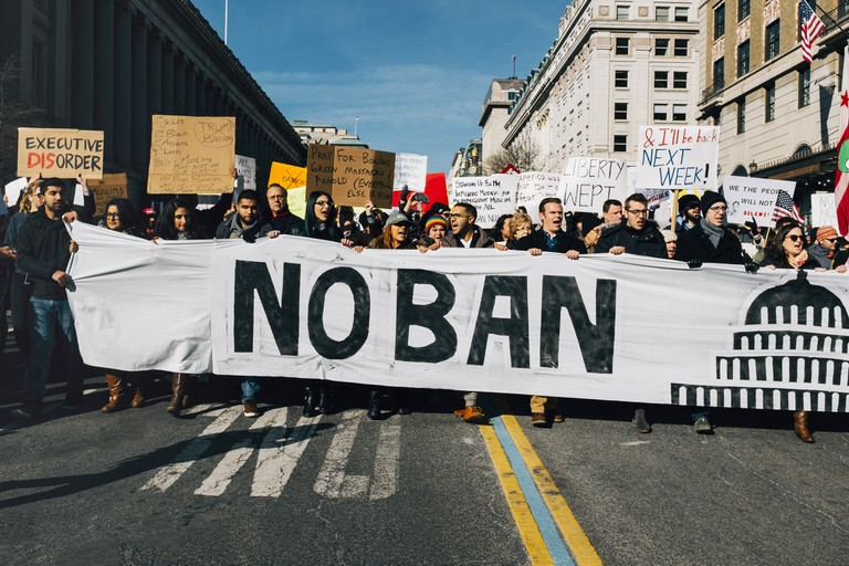 Ban protest