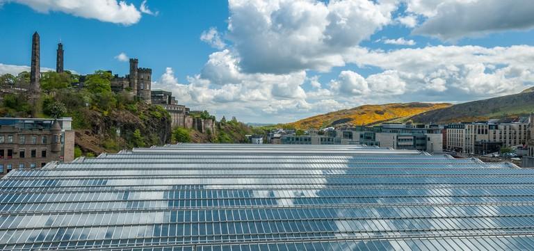 View From Edinburgh Waverley Train Station