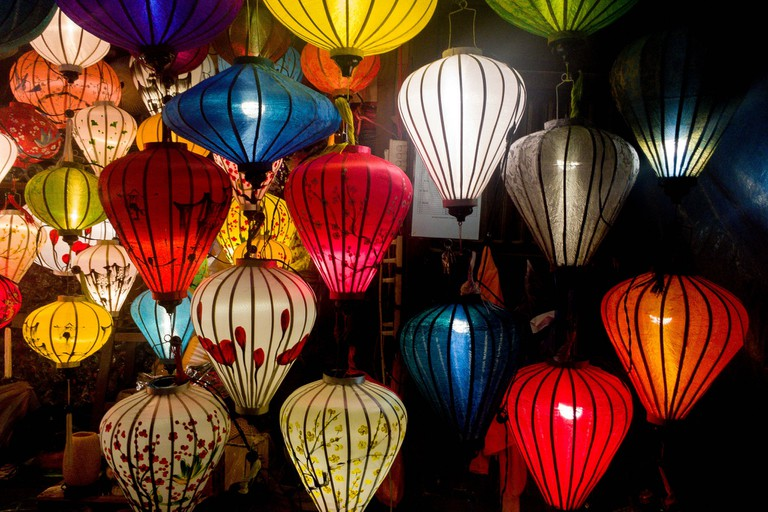 A variety of lanterns
