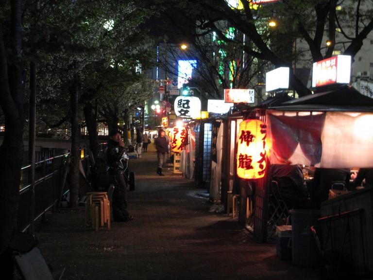 Nakasu yatai food stands