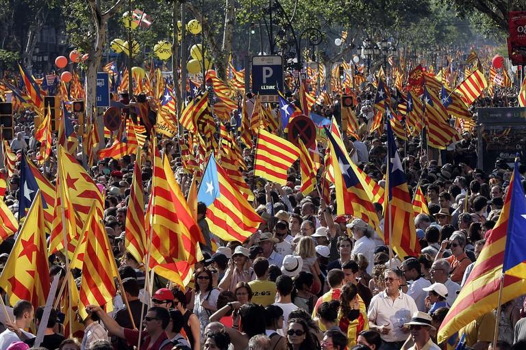 A pro-independence protest ©Convergència Democràtica de Catalunya