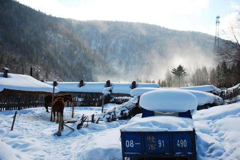 China Snow Town