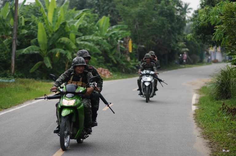 Thai soldiers in Pattani