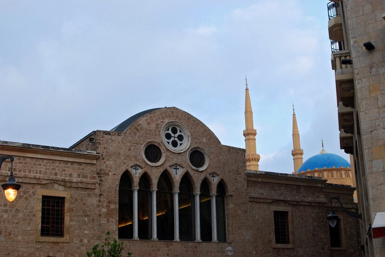 Church and Mosque in Downtown Beirut