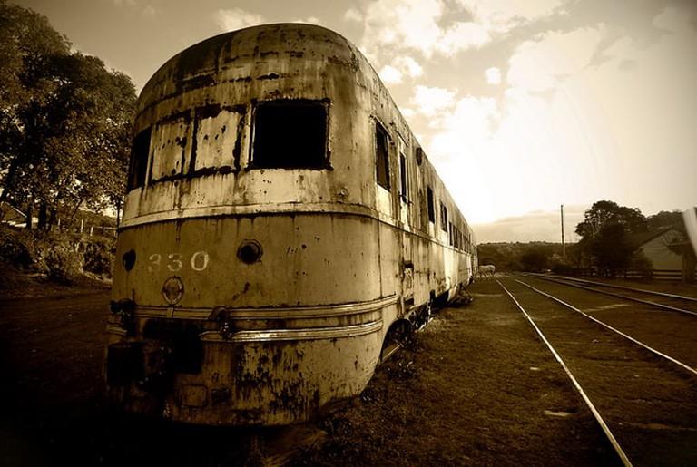 Retired motorcar, Valle Eden, Uruguay