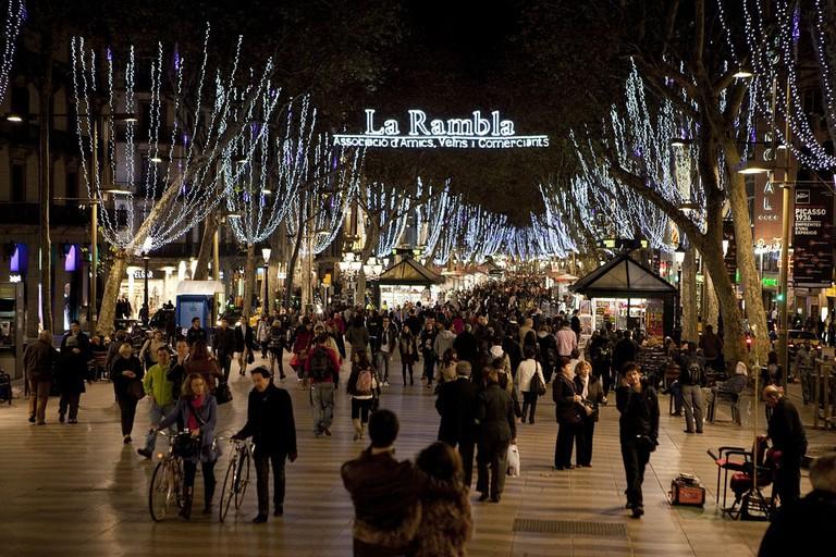 Christmas lights at La Rambla © Ajuntament Barcelona