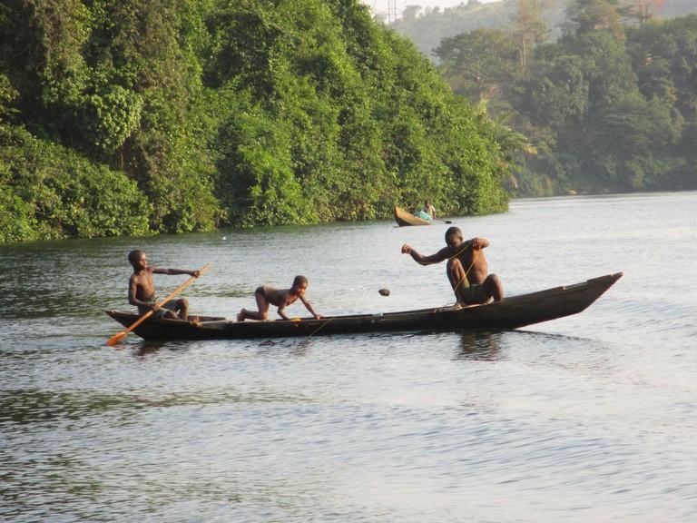 Fishing On Akosombo Lake