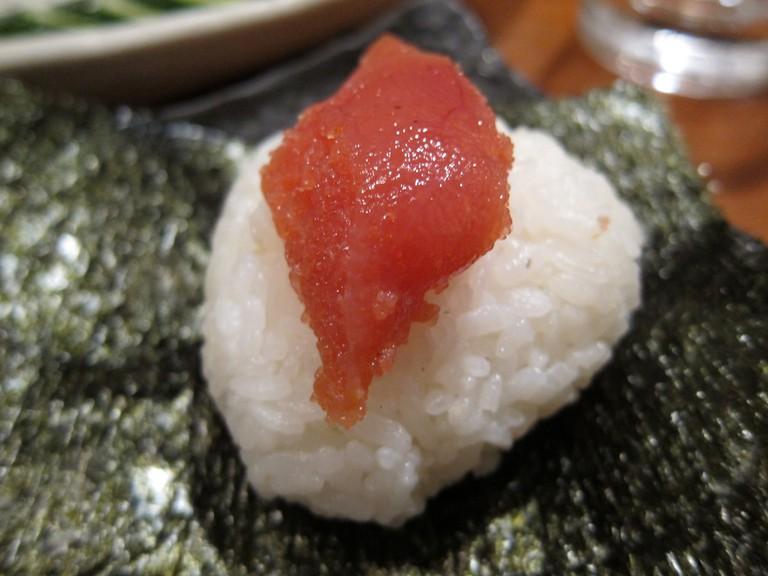 Mentaiko onigiri (rice ball)