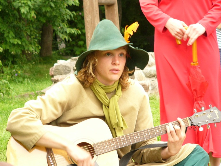Actor playing Snufkin at Moominworld / whiteg / Flickr