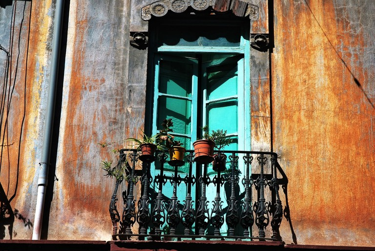 A balcony in the Ruzafa district, Valencia