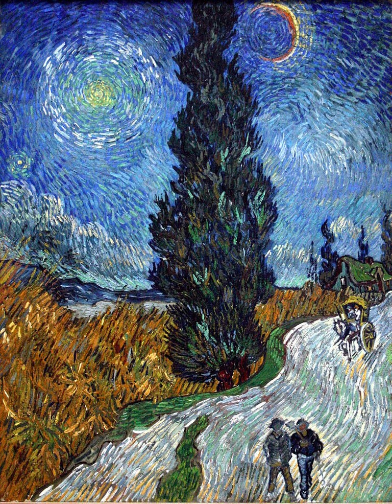 Vincent van Gogh, Road with Cypress and Star (1890) | Via WikiCommons