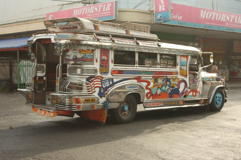 Old photo of jeepney