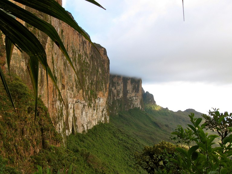 The imposing walls of Mount Roraima