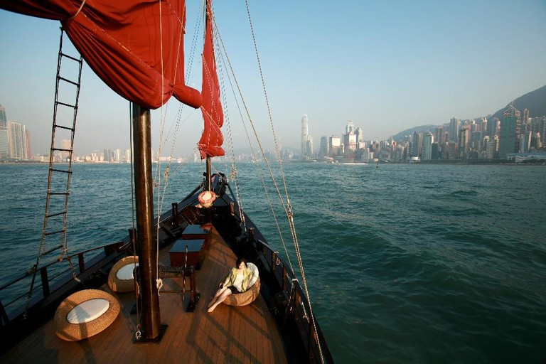 Introduced in 2006, the Aqua Luna has become a Hong Kong icon. Caption