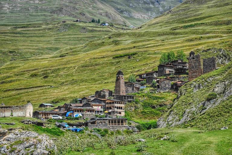 Village Dartlo in Tusheti