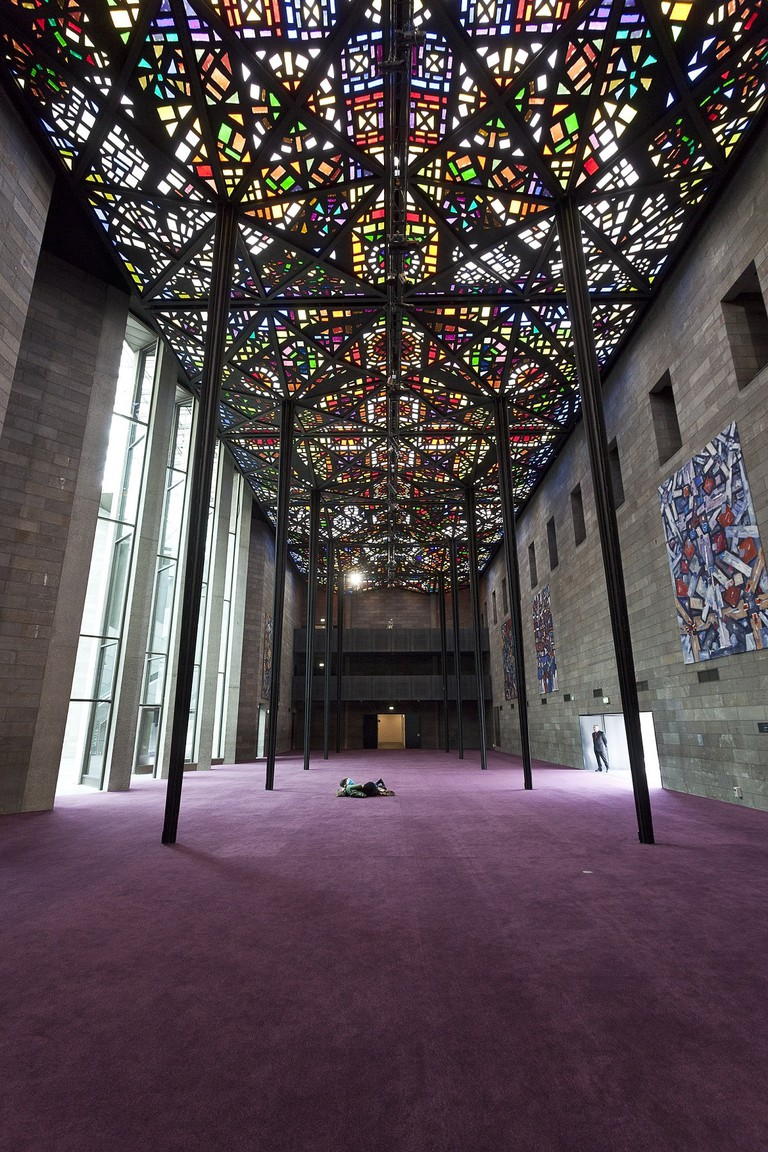 The Great Hall and Leonard French's ceiling, NGV International Photo Courtesy : NGV Photographic Services