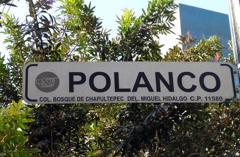 Polanco street sign