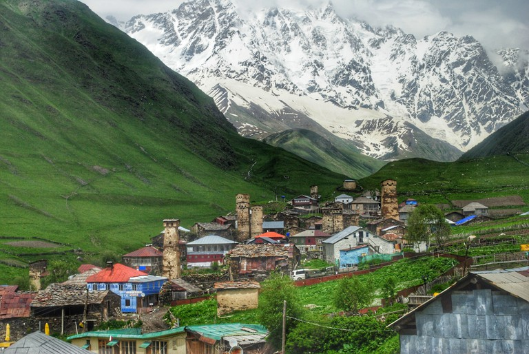 The village of Ushguli in Svaneti
