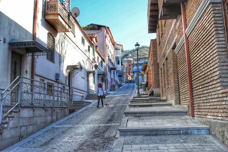 Narrow cobblestone lanes of Tbilisi