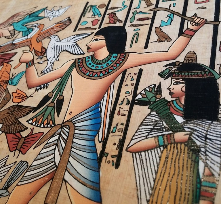 Scene showing people from ancient Egypt