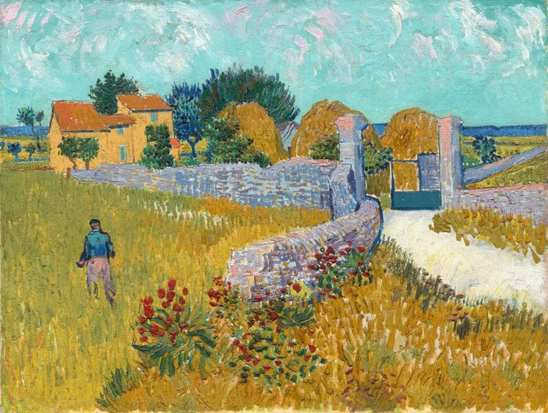Farmhouse in Provence June 1888 Arles, oil on canvas, National Gallery of Art, Washington