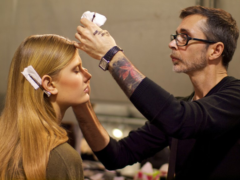 Backstage at the 2011 Elie Saab spring collection walkway