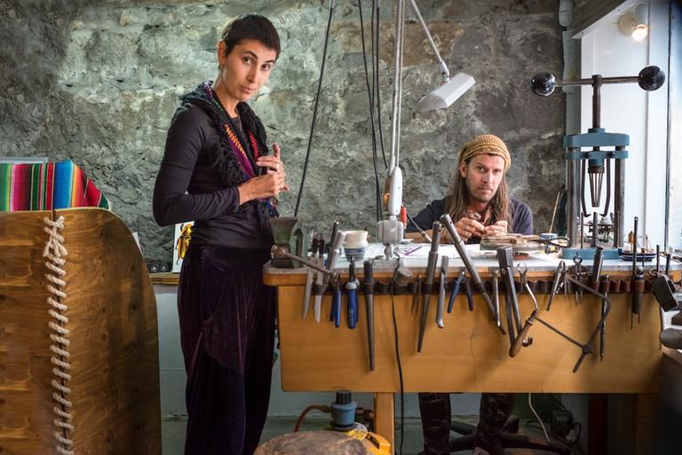 Helga and Orrí, Orri Finn Jewelry, Skólavorðustíg 17a   Courtesy of Helga Nina Aas