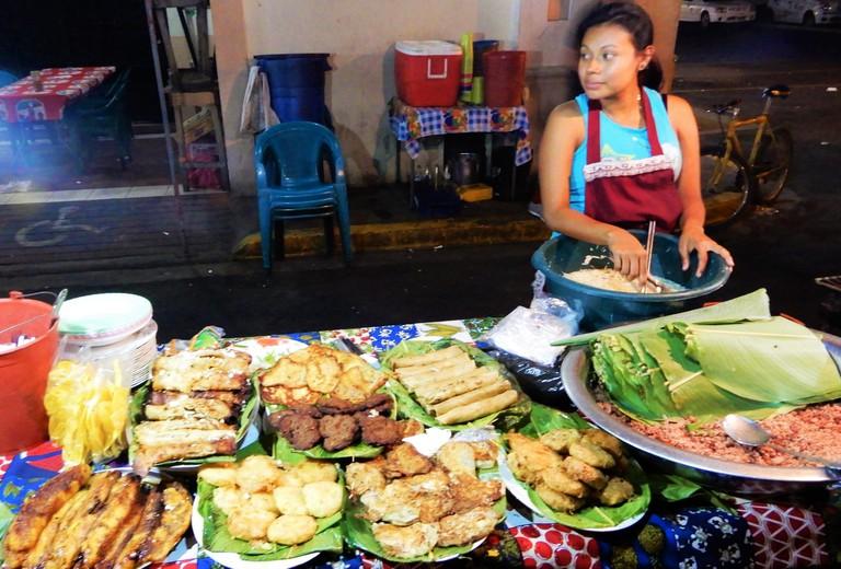 Fritanga food stall, Nicaragua