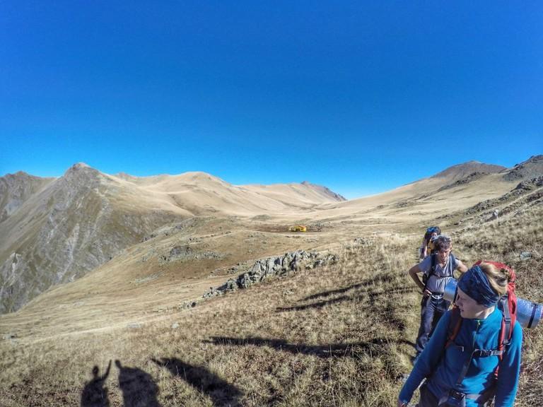 Hike towards the Black Rock Lake