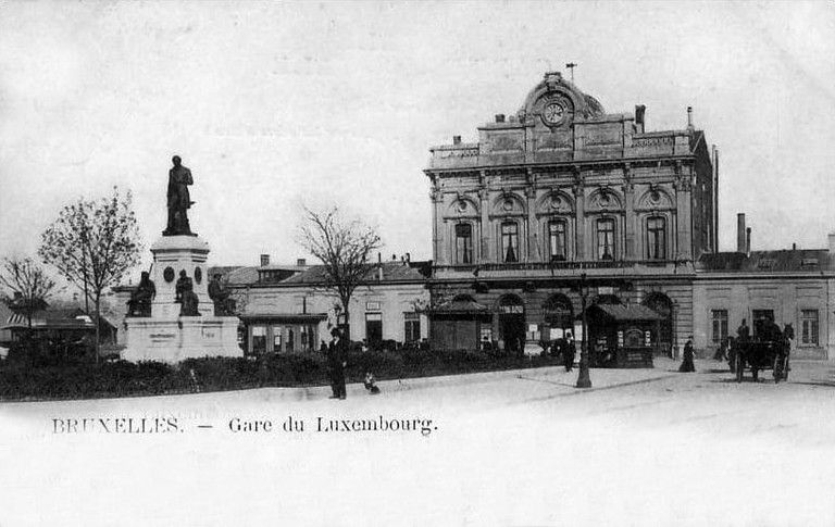 Place du Luxembourg and the Luxembourg train station in the early 1900s