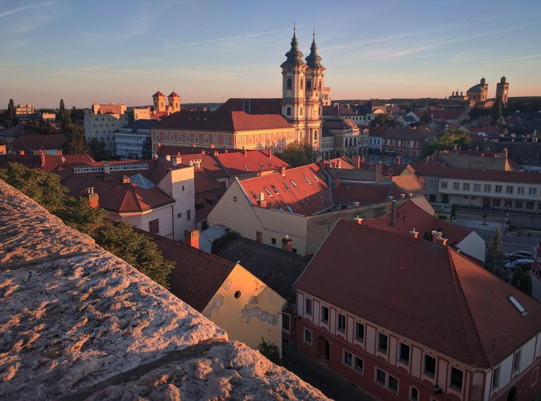 The beautiful town of Eger in Northern Hungary is home to old buildings and bountiful wine cellars