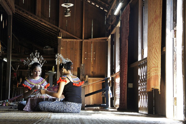 Iban Long House in Sarawak Cultural Village
