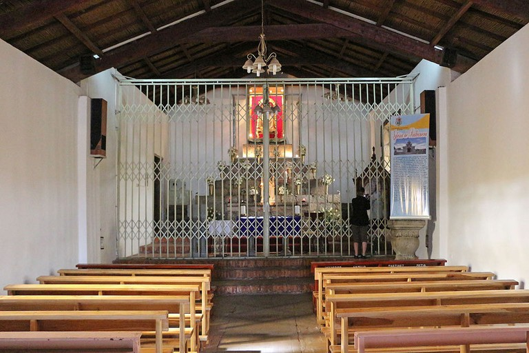 Interior of the Iglesia de Balbanera, Ecuador