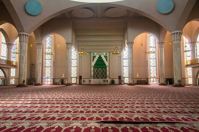 Interior view of the National Mosque Abuja