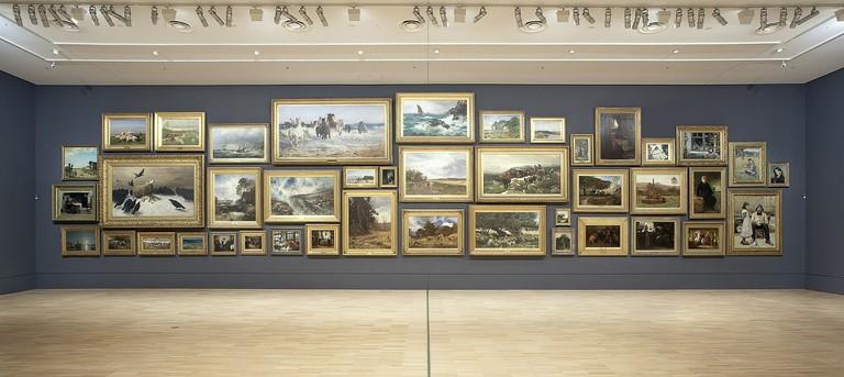 Visitors enjoying the Salon Gallery at NGV International Photo Courtesy NGV Photographic Services